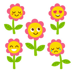 Cute flower faces