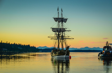 Tall Ships Visit Olympia, WA, USA, in August 2017