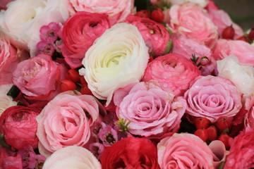Mixed pink bridal bouquet