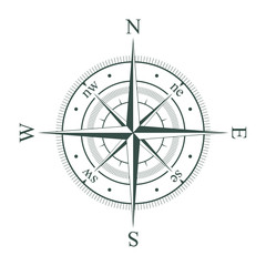 Compass. Wind rose. Vector illustration.
