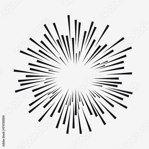 comic explosion effect radial moving lines sunburst element sun rh eu fotolia com