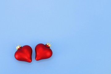 Heart-shaped Christmas decorations
