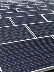 Solar panels on the roof of a building