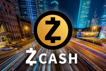 Concept of  Zcash,  a Cryptocurrency blockchain, Digital money