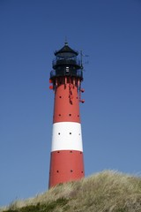 Lighthouse, Hoernum, Sylt island, North Frisia or Northern Friesland, Schleswig-Holstein, Germany, Europe
