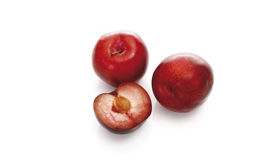 Red plums (Rosaceae)