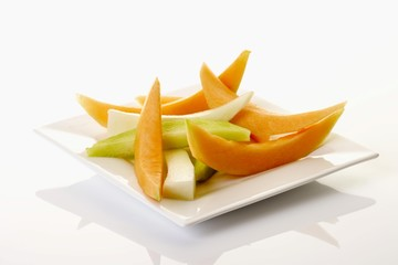 Different kinds of melon slices
