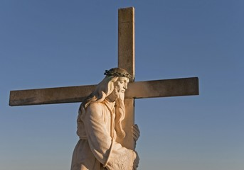 Grave cross at a cemetery in Andalusia, Spain, Europe