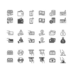 Money icons, included normal and enable state.