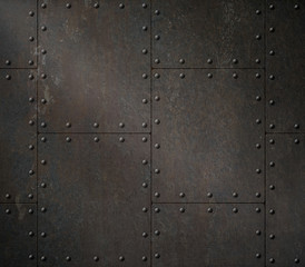 dark rusty metal armour 3d illustration