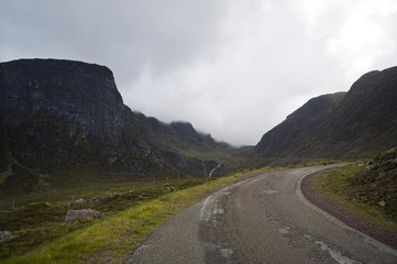 Top of mountain pass near Applecross, Scotland, United Kingdom, Europe