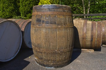 Barrels, The Famous Grouse Experience, Glenturret Whisky Distillery, Crieff, Scotland, United Kingdom, Europe