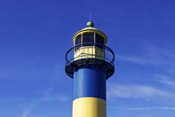 Old lighthouse in the harbour, Baltic Sea seaside resort town of Eckernfoerde, Rendsburg-Eckernfoerde district, Schleswig-Holstein, Germany, Europe