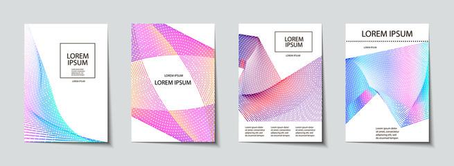 Covers design set. Abstract, minimal, geometric pattern.