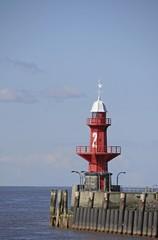 Lighthouse in Brunsbuttel, Kiel-Canal, Nord-Ostsee-Kanal, Schleswig-Holstein, Germany, Europe