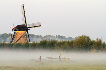 Foto op Canvas Molens Kinderdijk in holland