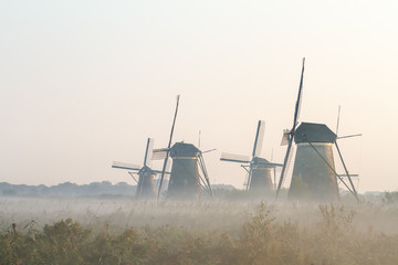 Aluminium Prints Mills Kinderdijk in holland