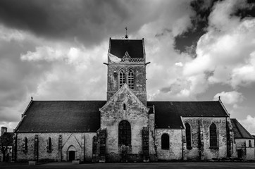 Church in St. Mere Eglise, Normandy