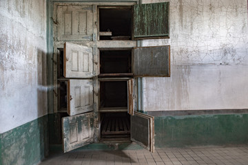 mortuary in ellis island abandoned psychiatric hospital interior rooms