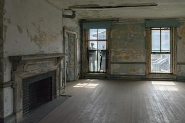 Foto op Canvas Industrial geb. ellis island abandoned psychiatric hospital interior rooms