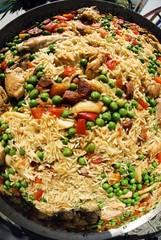 Paella Valenciana, Spanish rice dish