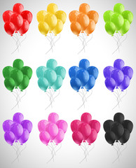 Different color of balloons floating