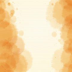 Background design with watercolor in orange
