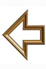 Frame shaped as an arrow
