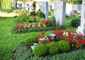 Church-yard, Friedhof, Grab, Gräber, Allerheiligen, Allerseelen, Textraum, copy space