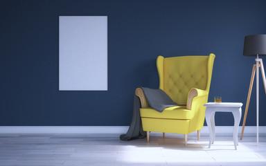 blue sunny room