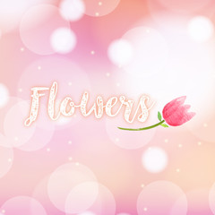 Seamless background with pink tulip