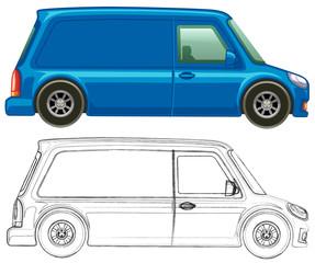 Doodle art for minivan