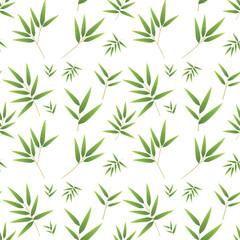 Seamless bamboo pattern on white