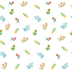 seamless pattern of flowers abstraction