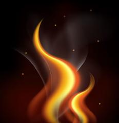 Background design with orange flames