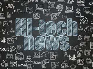 News concept: Hi-tech News on School board background
