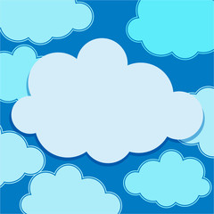 Clouds floating on blue sky