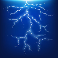 Blue lightning strike effect