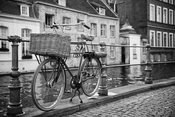 Bicycle Parked Overlooking the Canal - Urban Vibe