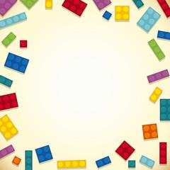 Border design with colorful blocks