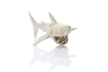 Comic figure, a white shark