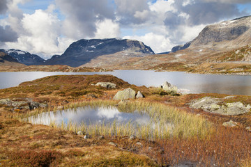 Lake Stavatn and the Haukeli Mountains