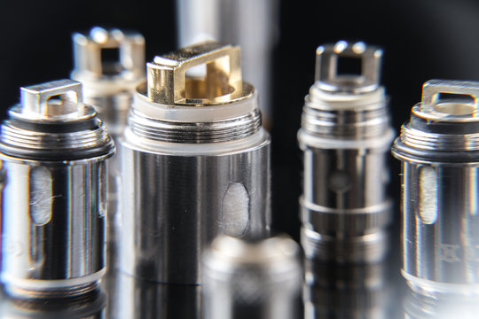 Close up on electronic cigarette coils