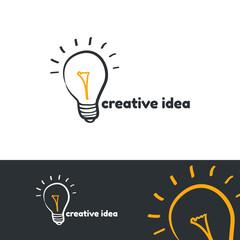 Creative idea logo template.