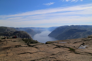 View from Preikestolen on the Lysfjorden