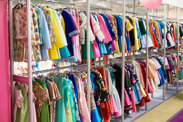 Women's clothing in store