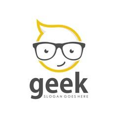 Geek logo design template
