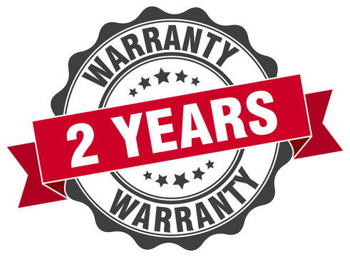 2 years warranty stamp. sign. seal