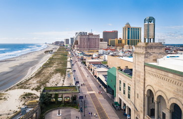 ATLANTIC CITY, USA - SEPTEMBER 20, 2017: Atlantic city boardwalk