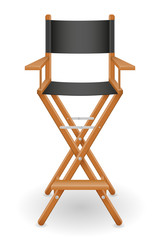 director cinema chair stock vector illustration